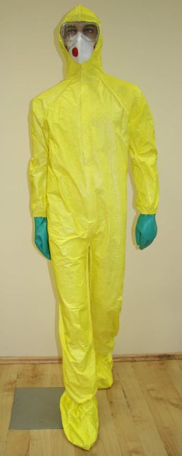 Light NBC protective suit set with accessories